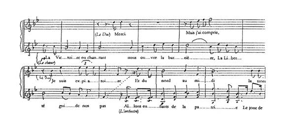 Chant du depart Honegger